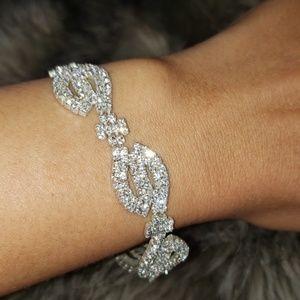Jewelry - CZ Diamond sparkly tennis S bracelet
